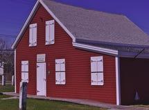 Casa 3480 da velha escola imagem de stock