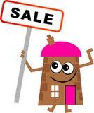 Casa da venda ilustração stock