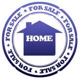 Casa da vendere il bollo Immagine Stock Libera da Diritti