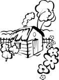 Casa da vila ilustração royalty free