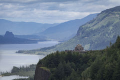 Casa da vista, desfiladeiro do Rio Columbia, Oregon Imagem de Stock Royalty Free