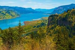 Casa da vista do Rio Columbia Foto de Stock