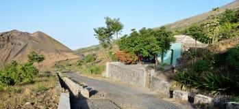 Casa dal vulcano di granellino di polvere Preto Fotografia Stock