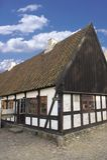 Casa danesa vieja imagen de archivo