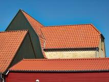 Casa danese Assens Danimarca di vecchio stile classico tradizionale Fotografia Stock