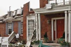 A casa danificou pelo disastre Fotos de Stock