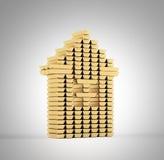 Casa das barras de ouro Imagem de Stock Royalty Free