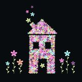 Casa das flores Fotografia de Stock Royalty Free
