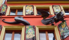 A casa das legendas em Lviv Imagens de Stock
