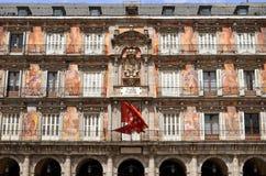 casa de在广场市长的la Panaderia在马德里,温泉 库存照片