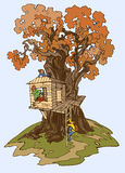 Casa de árvore Foto de Stock Royalty Free
