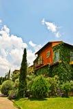 Casa de árvore colorida. fotografia de stock
