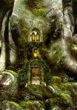 Casa de árvore da fantasia Fotografia de Stock Royalty Free
