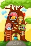 Casa de árvore dos animais Imagens de Stock