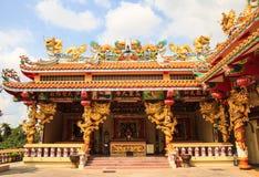 Casa de ídolo chino del dragón Foto de archivo
