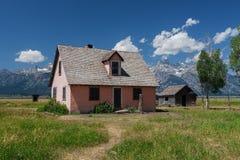 Casa de Abandonded en fila mormona Imágenes de archivo libres de regalías
