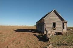 Casa de Abandonded - Oklahoma Imagen de archivo libre de regalías