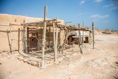 Casa de Acient no deserto foto de stock