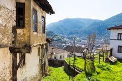 Casa de adôbe abandonada em Tarakli que é um distrito histórico na província de Sakarya Imagens de Stock