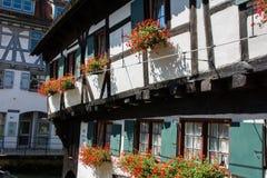 Casa de Alemania de la señal de Schiefes Haus Ulm del hotel Foto de archivo