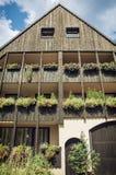 Casa de apartamento alemão Fotografia de Stock Royalty Free