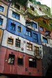 Casa de apartamento de Hundertwasser foto de archivo libre de regalías