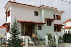 Casa de apartamento em greece Imagem de Stock