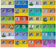 Casa de apartamentos colorida Fotos de Stock