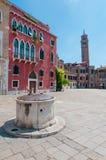 Casa de apartamentos cuadrada de Venecia Imágenes de archivo libres de regalías