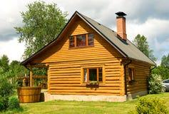 Casa de baños de madera Fotografía de archivo libre de regalías