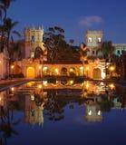 Casa De Balboa alla notte Fotografia Stock