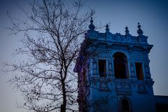 Casa de Balboa blue hour stock images