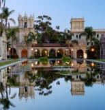 Casa De Balboa an der Dämmerung lizenzfreies stockbild