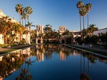 Casa DE Balboa en Huis van Gastvrijheid bij zonsondergang stock foto's