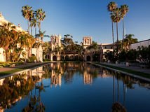 Casa de Balboa and House of Hospitality at sunset Stock Photos