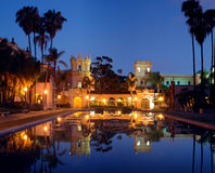 Casa De Balboa at night Stock Image