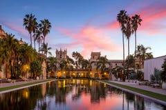 Casa De Balboa at sunset, Balboa Park, San Diego USA Royalty Free Stock Images