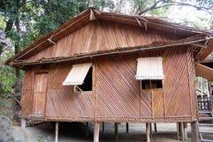 Casa de bambu Foto de Stock Royalty Free