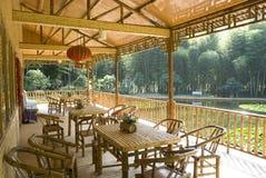 Casa de bambu Foto de Stock