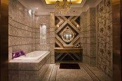 A casa de banho com chuveiro imagem de stock