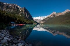 Casa de barco de Lake Louise Imagem de Stock Royalty Free