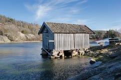Casa de barco velha foto de stock