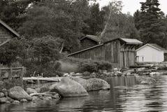 Casa de barco vieja Fotografía de archivo