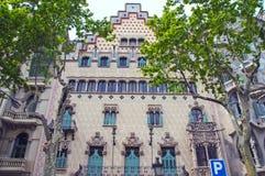 Casa de Batllo de Antoni Gaudi Imagenes de archivo