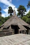Casa de Bidayuh en la selva de Sarawak Borneo Imagen de archivo