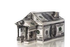 Casa de billetes de banco Imagenes de archivo