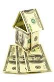 Casa de billetes de banco Foto de archivo libre de regalías