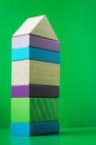 Casa de blocos de madeira Fotografia de Stock