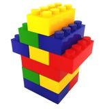 Casa de bloque del color Foto de archivo libre de regalías