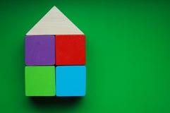 Casa de bloques de madera Imagen de archivo libre de regalías